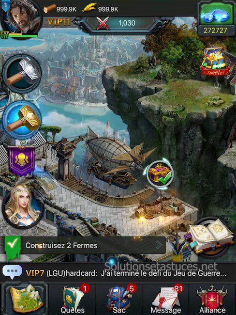 Astuces Rise of the Kings gratuits pour android et ios Gemmes illimités