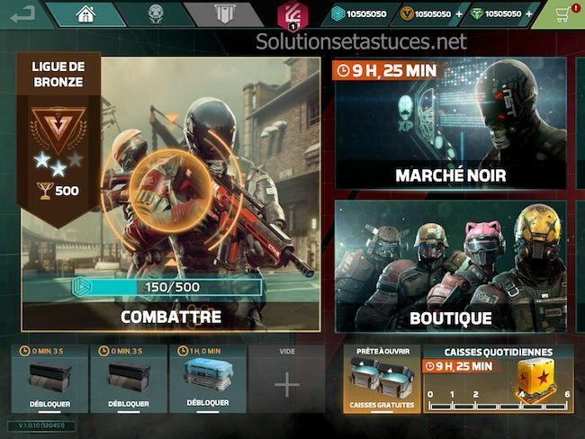 Astuces Modern Combat Versus gratuits ios android